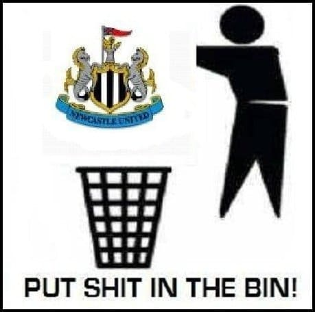 Load of Poo - put nufc shit in the bin