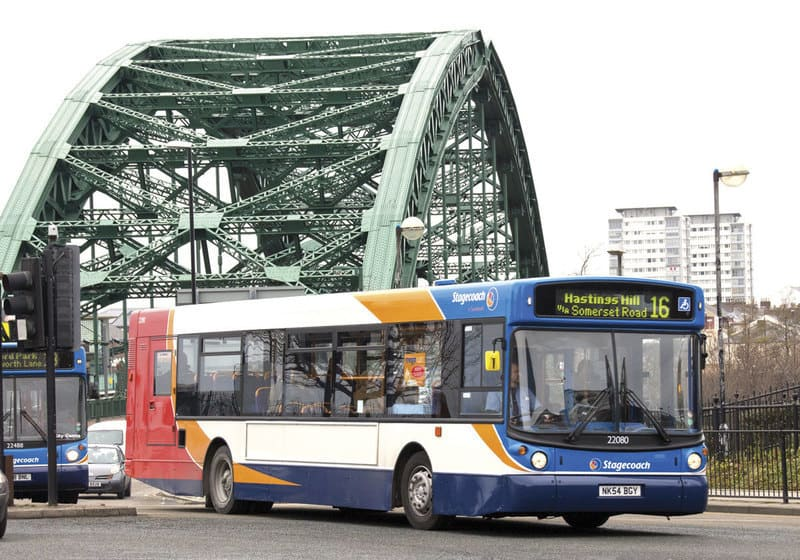 Stagecoach Bus Company Threaten To Pull Out Of Sunderland - omnibus and Wearmouth Bridge
