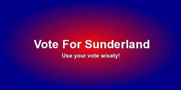 vote for sunderland banner