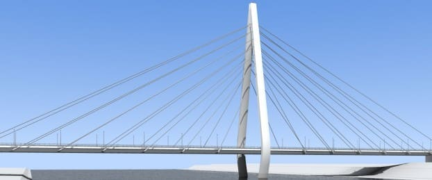 new sunderland bridge - northern spire artist impression