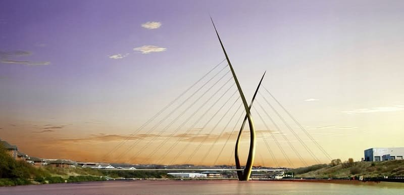 new sunderland bridge - northern spire - viking horns scrapped
