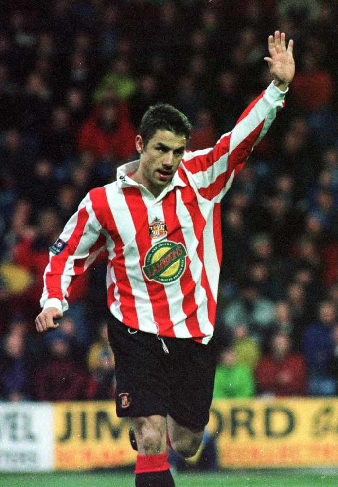 SAFC fixtures - Kevin Phillips with his Sunderland shirt sponsored by Lambtons