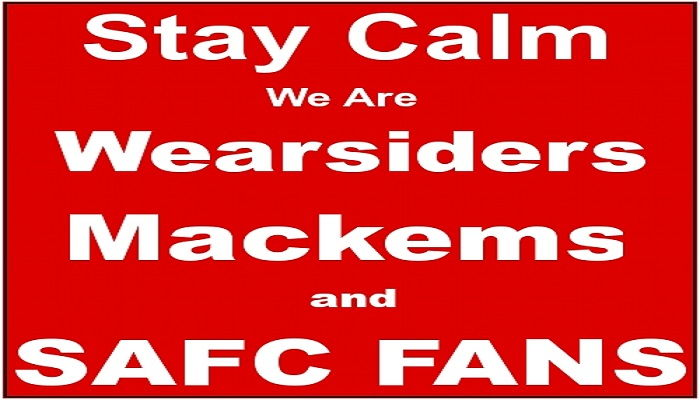 web search - surf the net here free - stay calm we are mackems, wearsiders and SAFC fans
