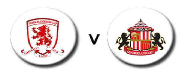 Club crests - logos and badges - Middlesbrough v Sunderland AFC - Boro/Smoggies v Black Cats