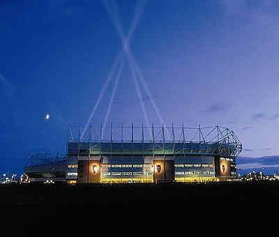 SAFC fixtures -Sunderland AFC - Stadium of Light - night time spotlights