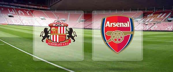 Club crests - logos and badges - Sunderland v Arsenal - Black Cats v Gunners