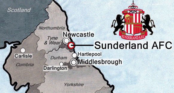 Sunderland Stadium of Light Location north east England