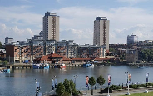 Wearside news headlines - river wear looking towards the fish quay in the east end of sunderland