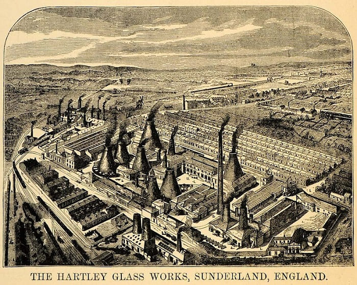 Hartley Wear Glass Works Sunderland