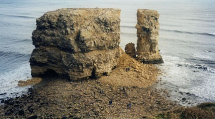 Marsden Rock - after the collapse leaving a stack