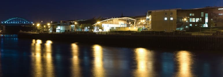 Monkwearmouth Riverside - St Peters Campus at night