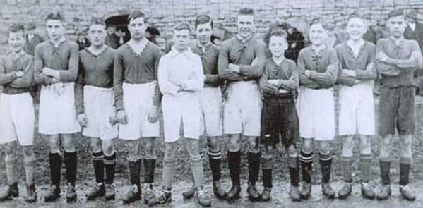 Raich Carter - schoolboy footballer Northern Boys team 1927