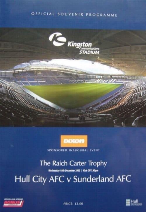 Raich Carter Trophy - Hull City v Sunderland AFC programme