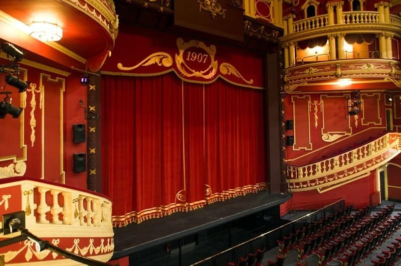 Sunderland Empire Theatre Stage - Red Curtains
