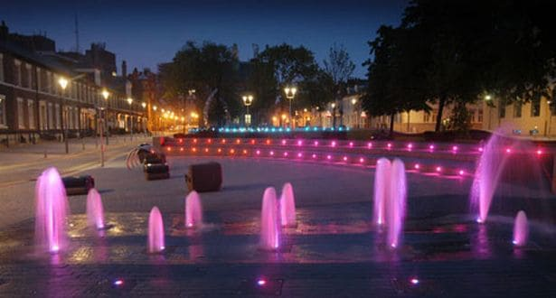 Sunniside in Sunderland - fountains