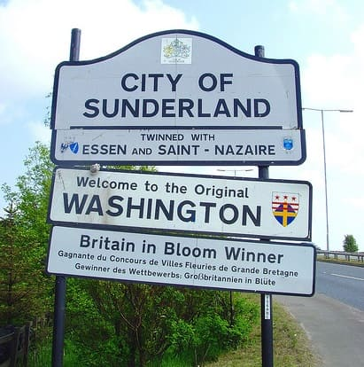 Welcome To The Original Washington Road Sign - Sunderland - Wearside Online