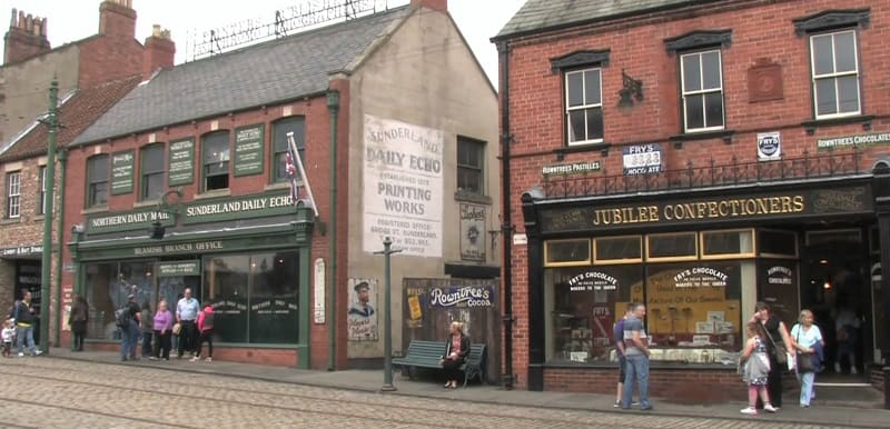 Beamish Museum - Sunderland Echo and Shops