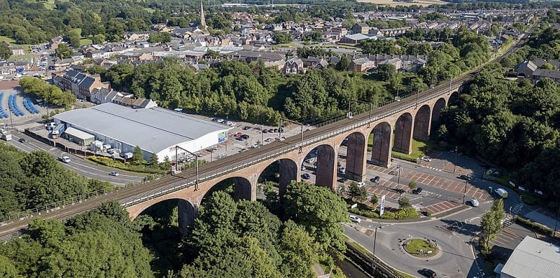 Chester-le-Street - Chester Burn viaduct railway lines - Wearside Online