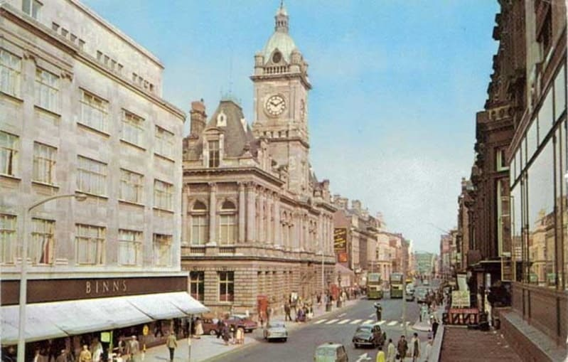 Sunderland Town Hall in Fawcett Street in the sixties 1960's