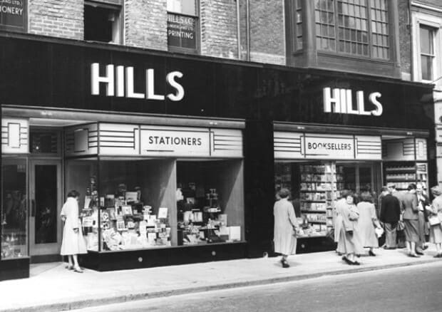 Hills Bookshop, Waterloo Place, Sunderland - Booksellers