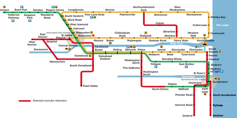Sunderland Metro Line - Possible extensions