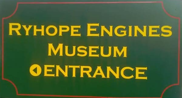 Ryhope Engines Museum in Sunderland sign post