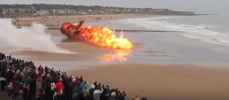 Sunderland International Airshow - beach attack and explosions
