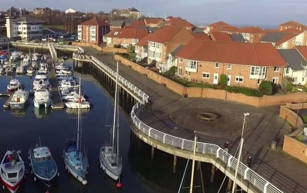 Sunderland Marina Housing at Roker North Docks development
