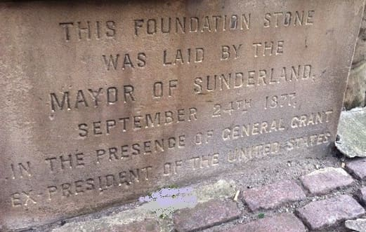Sunderland Museum and Winter Gardens - Foundation Stone - General Ulysses S. Grant and Mayor