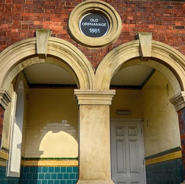 Sunderland East End Orphan Asylum entrance to the orphanage 1861 plaque