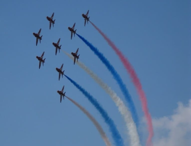 Sunderland International Airshow - The Red Arrows Display Team - Roke and Seaburn - Wearside Online