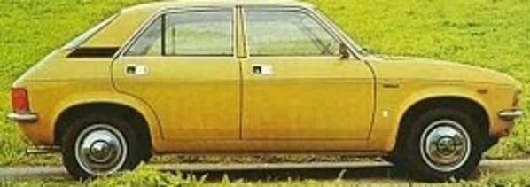 Malcolm Fairley AKA The Fox - yellow Austin Allegro car