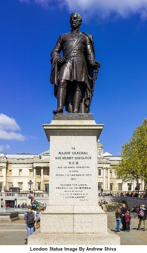 Major General Sir Henry Havelock Statue in Trafalgar Square London