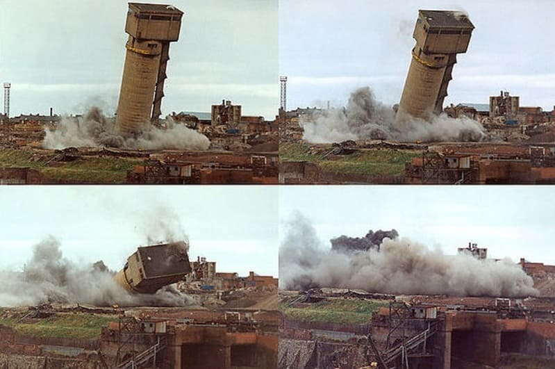 Coal Mining on Wearside - Monkwearmouth Colliery demolition