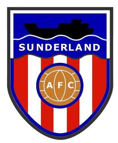 Sunderland AFC Badge - logo and crest - ship blue background