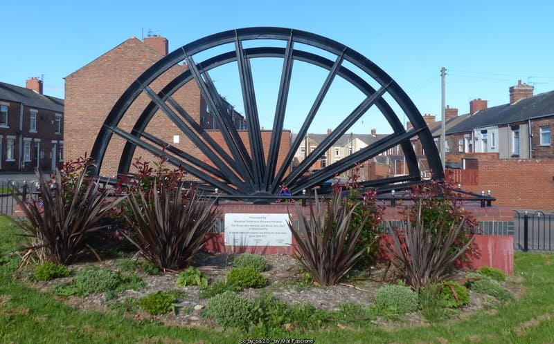 Blackhall Colliery pit wheel monument County Durham coal mining industry