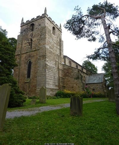 Murder At The Mill - st laurence's church at hallgarth, pittington