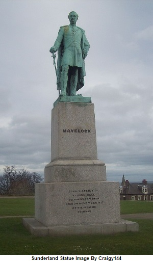 Major General Sir Henry Havelock Statue In Mowbray Park Sunderland
