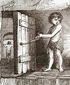 Trapper boys operated the trap doors in the coal mines