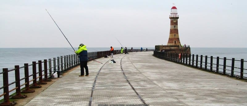 Angling at Roker Pier in Sunderland - great fishing trips